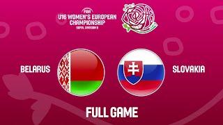 Belarus v Slovakia - Full Game - FIBA U16 Women's European Championship Division B 2019