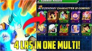 MOST LRS IN 1 MULTI SUMMON! | 4 LRS IN ONE MULTI!!! | Highest LR Summons In Dokkan Battle Part 2