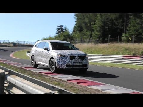 2021 Kia Sorento seen in action at the Nurburgring