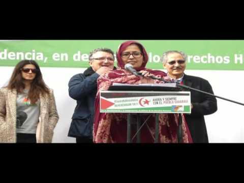 SAHARA: POR UN REFERÉNDUM YA. Manifestación Madrid 12 Noviembre 2016
