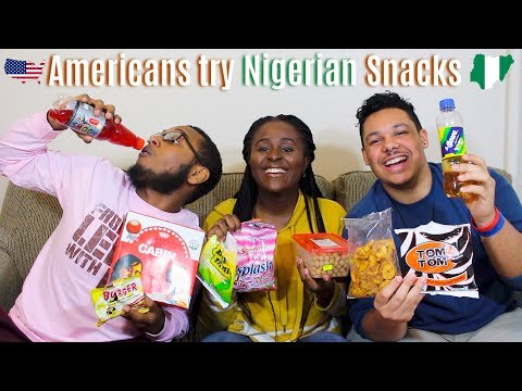 AMERICANS TRY NIGERIAN SNACKS, DRINKS & CANDY/SWEETS