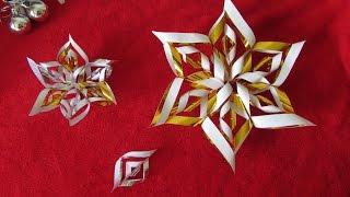 Floco de Neve em 3d – Super Fácil – Especial de Natal
