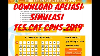 Download Video Cara Mendownload dan Memulai aplikasi Simulasi TES CAT CPNS 2018 MP3 3GP MP4