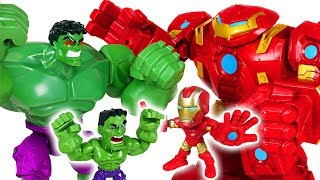 Robocar Poli friends are in danger because Hulk is crazy! Go! Iron Man's Hulkbuster! - DuDuPopTOY