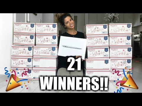 BIGGEST MAKEUP GIVEAWAY EVER! $2,000 WORTH OF MAKEUP & MACBOOK