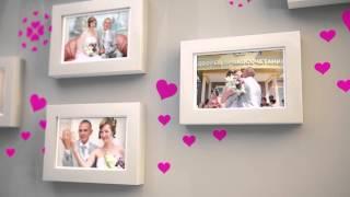 Заставка Свадебные фото на стене