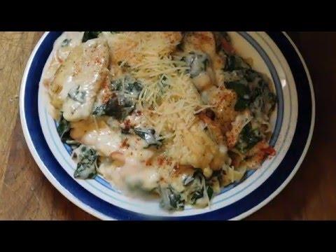 Classic, Chicken, Florentine, Fettuccini, Pasta 3/4