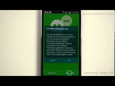 Samsung Galaxy S5 - Set Up Google Hangouts