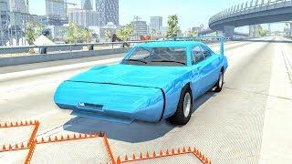 Massive Spike Strip Pileup Crashes #15 – BeamNG Drive | CrashBoomPunk