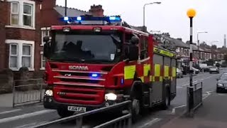 Fire Brigade at strange car crash, Sneinton Dale, Nottingham