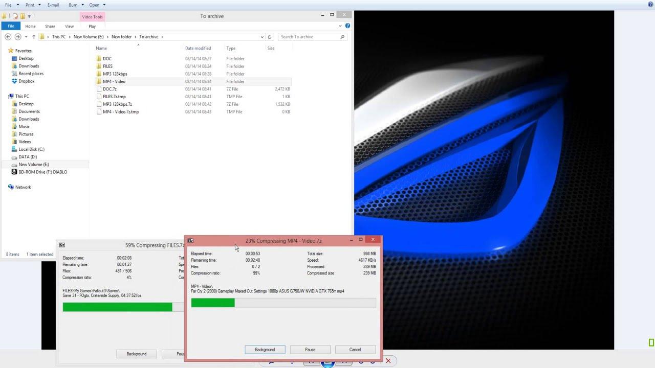 How to Configure 7zip - Best Compression Method Settings