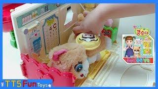 콩순이 동물병원 장난감 놀이-아픈 고양이 미캣 치료하기ㅣKongsuni Animal Hospital Toys Playing