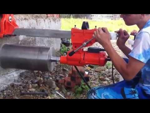 видео: Алмазное бурение отверстий в блоках