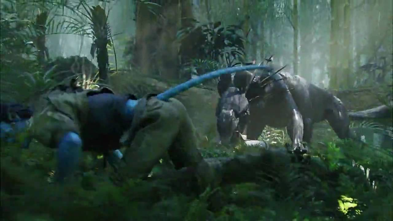 Exotic Animal Wallpaper Scene From Avatar Thanator Chase Youtube