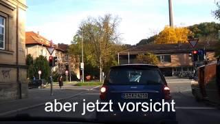 Live Fahrstunde in Tübingen (extreme)