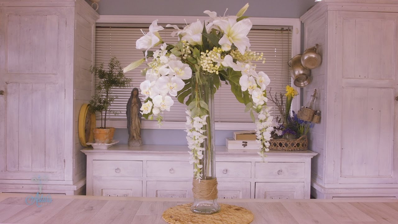 Wisteria lily and orchid floristry arrangement youtube reviewsmspy