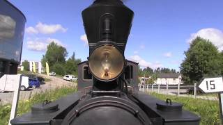 Steam Locomotive in action Aurskog - Hølandsbanen Norway