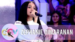 "Zephanie performs different renditions of ""Kilometro"" 