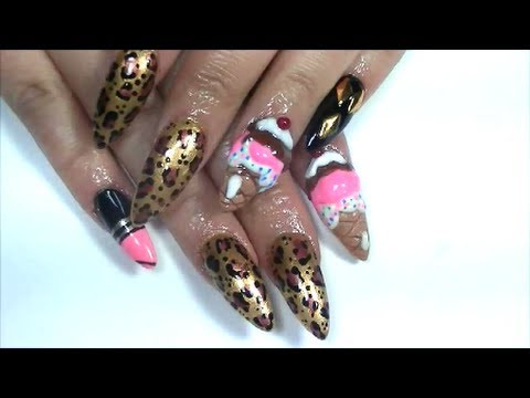 nicki minaj inspired acrylic nails