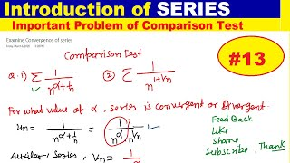 #13 Comparison test problem | Introduction of Series | Hard problem Series | Series Problem