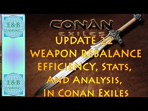 Conan Exiles - UPDATED Weapon Efficiency, Armor Penetration, Stats