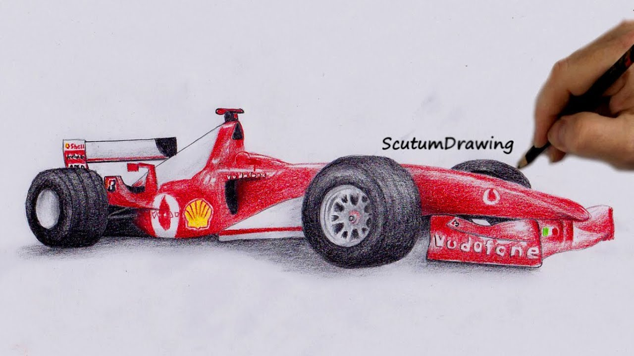 Ferrari F2004 , Speed Drawing , How To Draw , How To Draw F1 Car