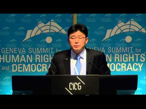 2014 Geneva Summit: Ahn Myeong Chul, North Korean defector, former Prison Guard