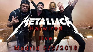 Metallica - intro + Hardwired | live in Madrid 5/2/2018 wizink center España