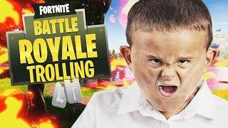 TROLLING AS A DEFAULT IN FORTNITE BATTLE ROYALE!!!