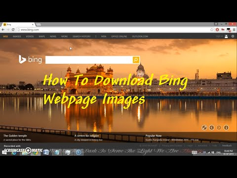 How to download Bing Webpage  Images