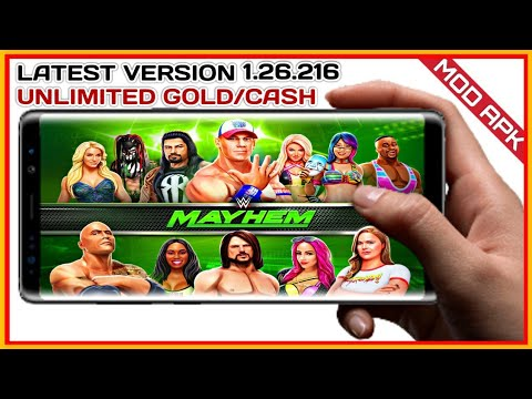 Download WWE MAYHEM Latest V1.27.248 Mod APK   Unlimited Gold/Cash   With GAMEPLAY In Hindi