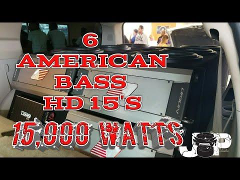 6 American Bass Hd 15's On 15k