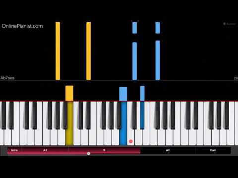 Beauty and the Beast - Ariana Grande & John Legend - EASY Piano Tutorial