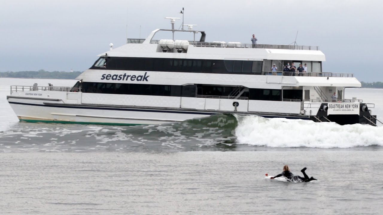 Biggest BEST & Cleanest Ferry Wave of ALL TIME!? NJ to NY Ferry