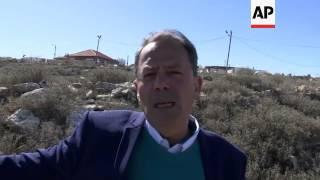 Palestinian landowner, Jewish settlers react