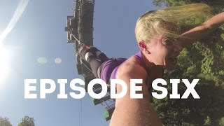 Mamrie (Mamrie Hart) and Troye Sivan go bungee jumping - The RoadTrip 2013 - Contiki - Ep6