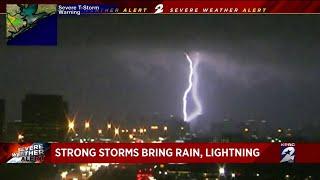Strong storm brings heavy rain to Houston on Halloween