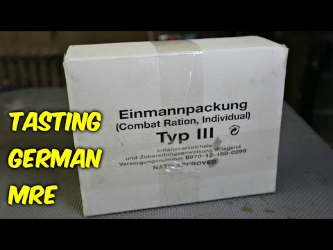 Thumbnail: Tasting German Military MRE (Meal Ready to Eat)