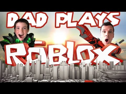 DAD PLAYS ROBLOX FOR THE 1ST TIME!