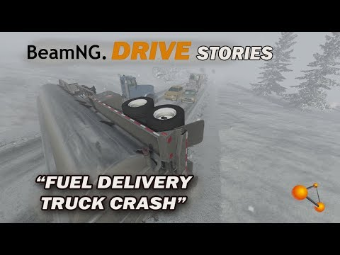 BeamNG Drive Short Stories #3 Delivery Truck Snow Crash