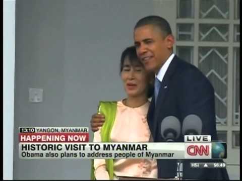 President Obama Aung San Suu Kyi Yangon Myanmar (November 19, 2012)