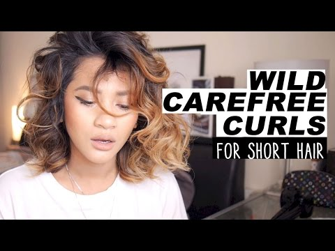 Hair Tutorial | Wild Carefree Curls for short hair