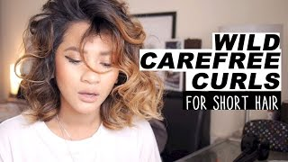 One of heyyyjune's most viewed videos: Hair Tutorial | Wild Carefree Curls for short hair