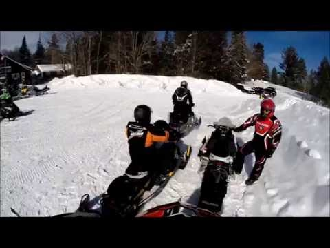 Snowmobiling in Old Forge NY 2014