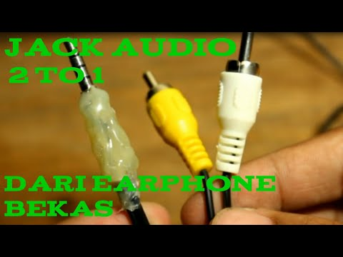 Diy Jack Rca To Aux Converter From Old Earphone Youtube