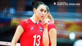 Evgeniya Startseva (Евгения Старцева) - BEST Volleyball Actions   SET ATTACK   WORLD CUP Japan 2019