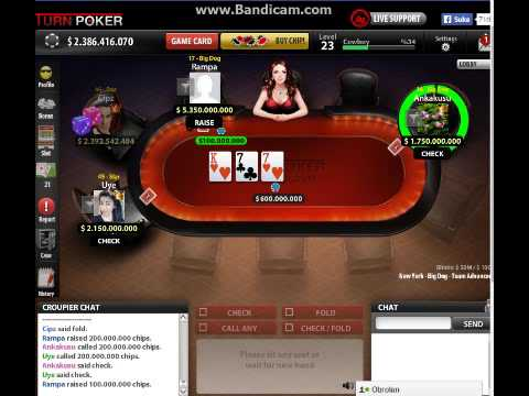 Wn Turn Poker Big Dog Pair As Vs Pair 7 Win 77