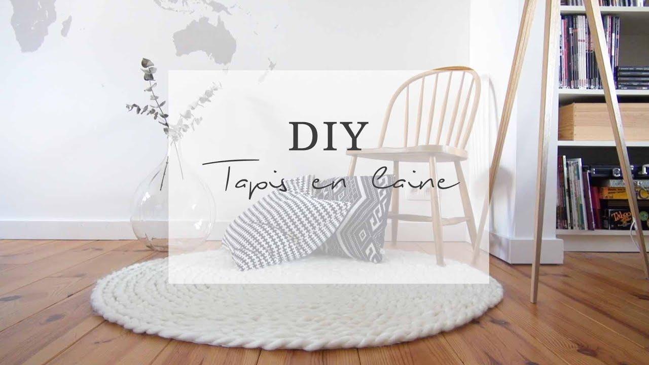 diy tapis en laine xxl sans tricoter pierre papier ciseaux youtube. Black Bedroom Furniture Sets. Home Design Ideas