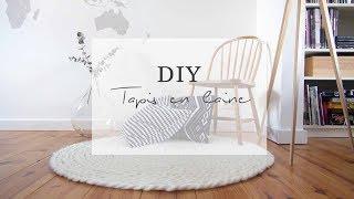 diy tapis en laine xxl sans tricoter pierre papier ciseaux
