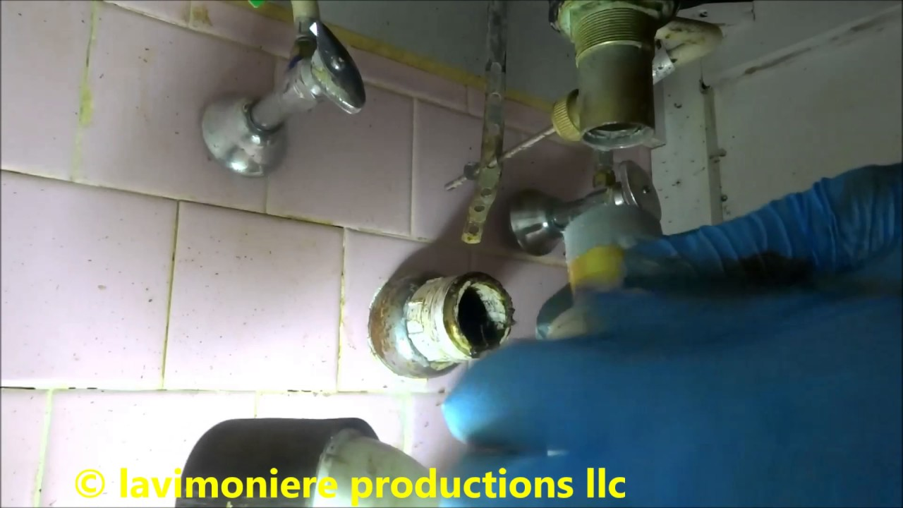 Bathroom Sinks Backing Up bathroom sink drain is backing up - youtube
